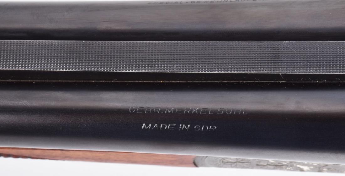 MERKEL GDR 12GA SxS SHOTGUN Engraved - 4