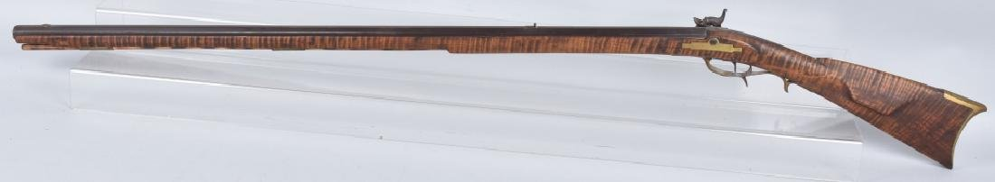PERCUSSION TENNESSEE TYPE .38 FULL STOCK RIFLE - 8