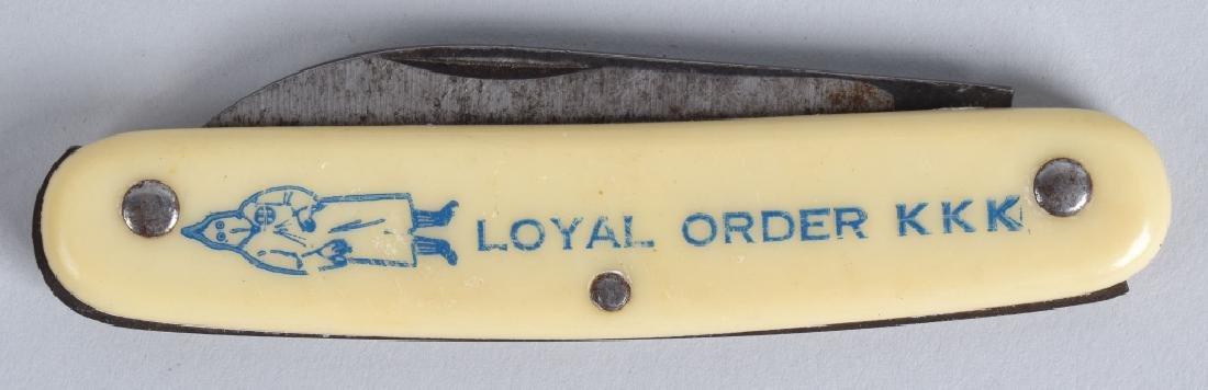 KKK COLONIAL LOYAL ORDER KKK POCKET KNIFE