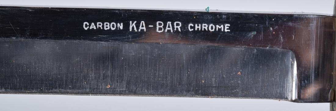 2-SIDE KNIVES, CAMILLUS COMBAT & KA-BAR CHROME - 7