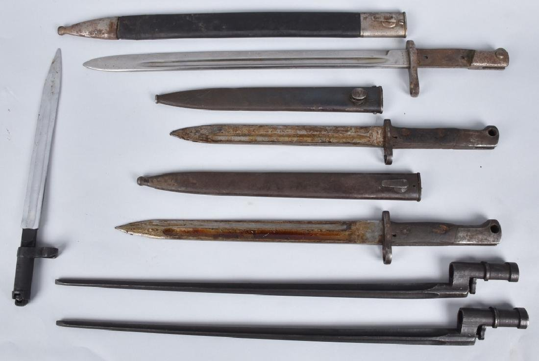 6-MILITARY RIFLE BAYONETS, WW1 and MORE
