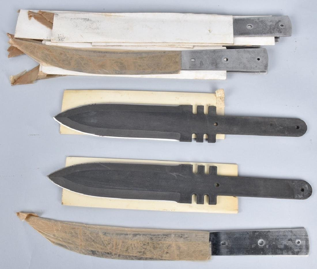 5-VINTAGE YATAGHAN BAYONET BLADES & 10 KNIVES - 4