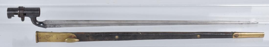 BRITISH M1895, ENFIELD BAYONET & SCABBARD