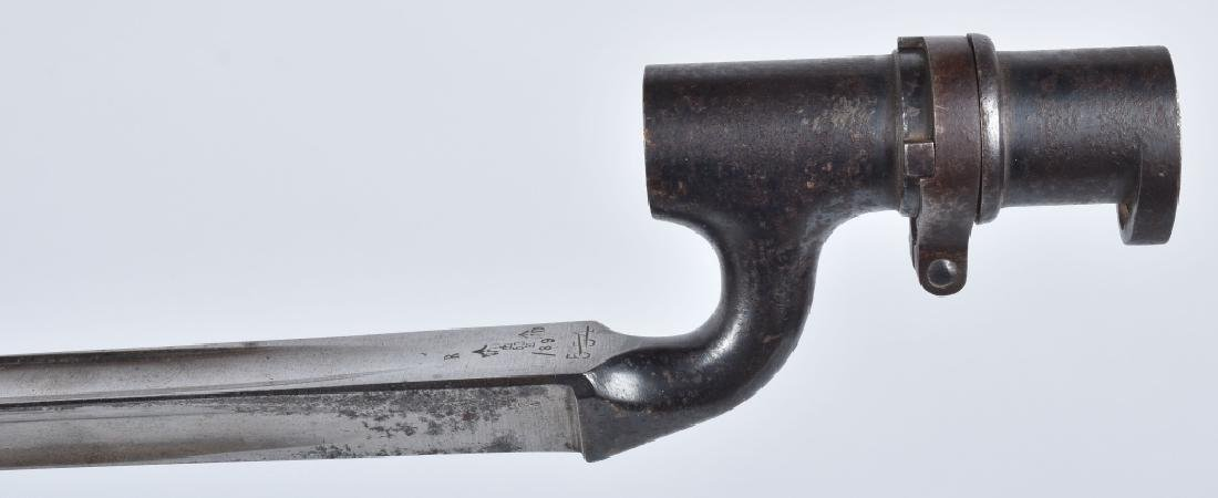 BRITISH M1895, ENFIELD BAYONET & SCABBARD - 2