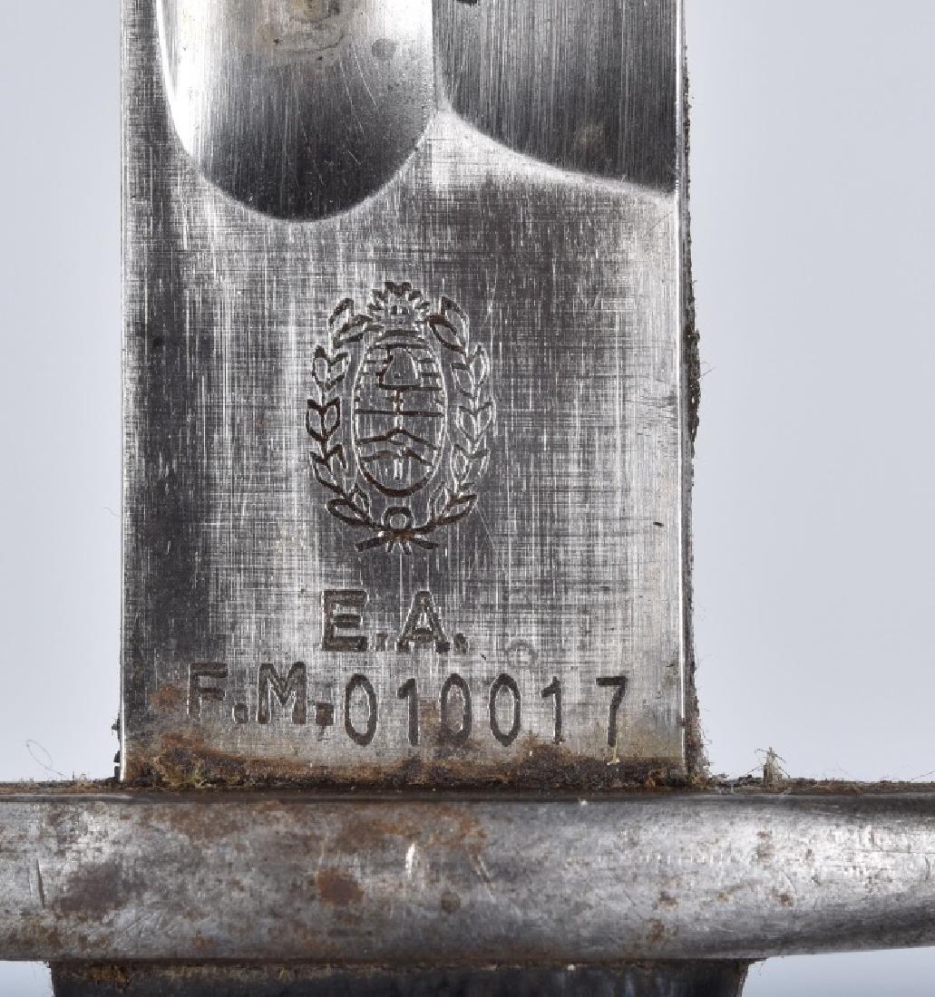 ARGENTINE M1909 MAUSER BAYONET & SCABBARD - 5