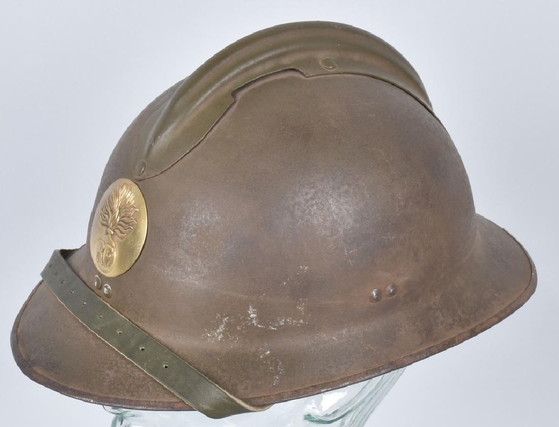 WW2 FRENCH ADRIAN HELMET with RF BADGE