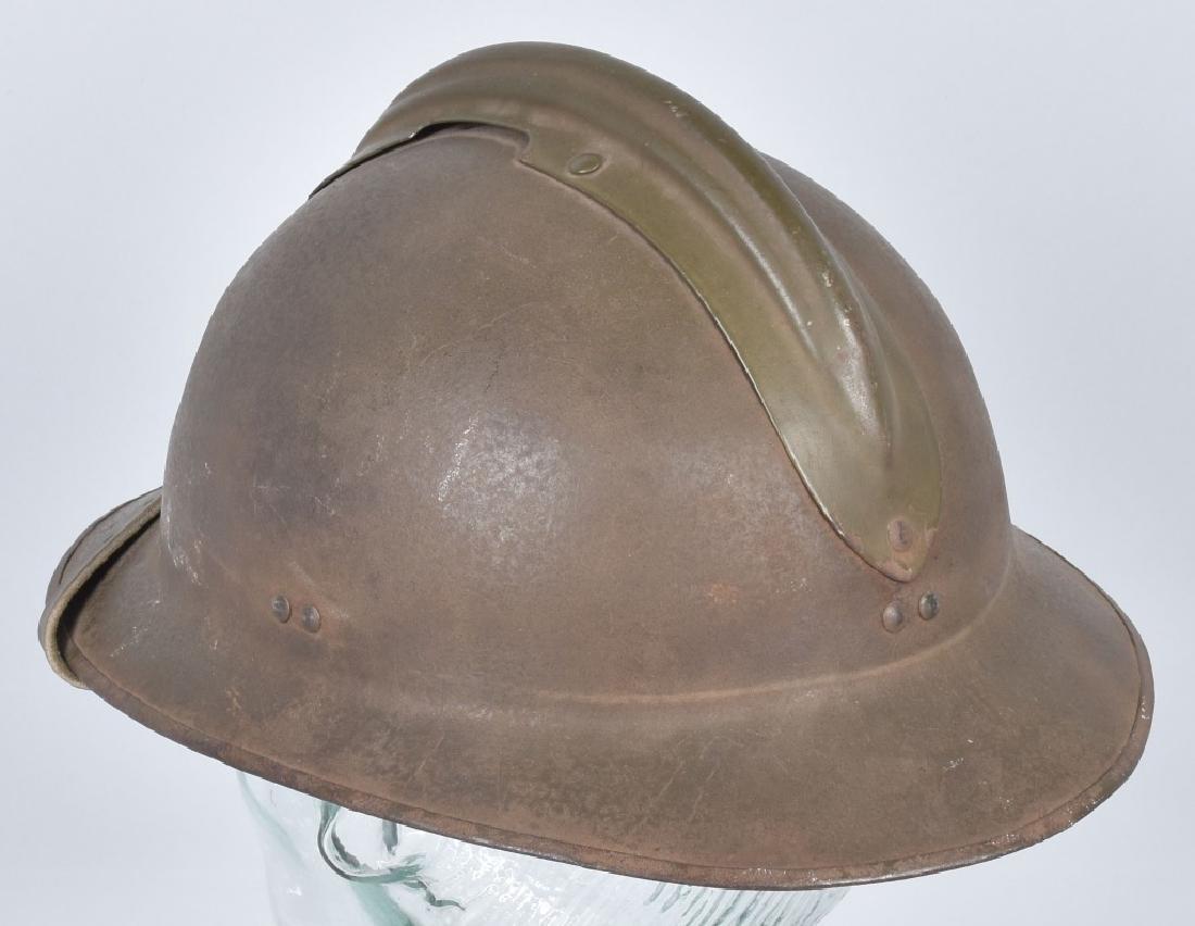 WW2 FRENCH ADRIAN HELMET with RF BADGE - 2