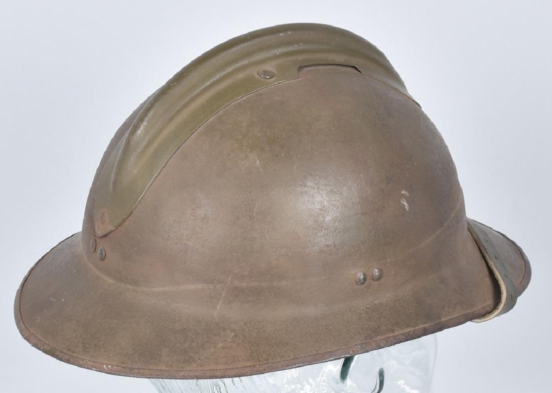 WW2 FRENCH ADRIAN HELMET with RF BADGE - 3