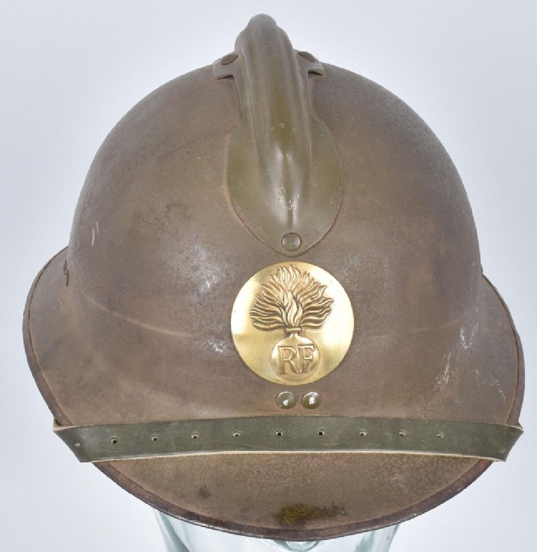 WW2 FRENCH ADRIAN HELMET with RF BADGE - 4