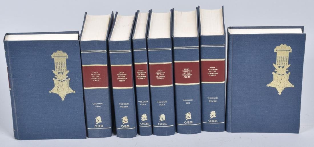 CIVIL WAR ARMY REGISTER OF VOL FORCE BOOK SET
