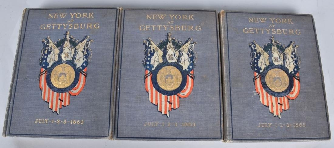 CIVIL WAR 1st EDT. 3-VOL GETTYSBURG BOOK SET