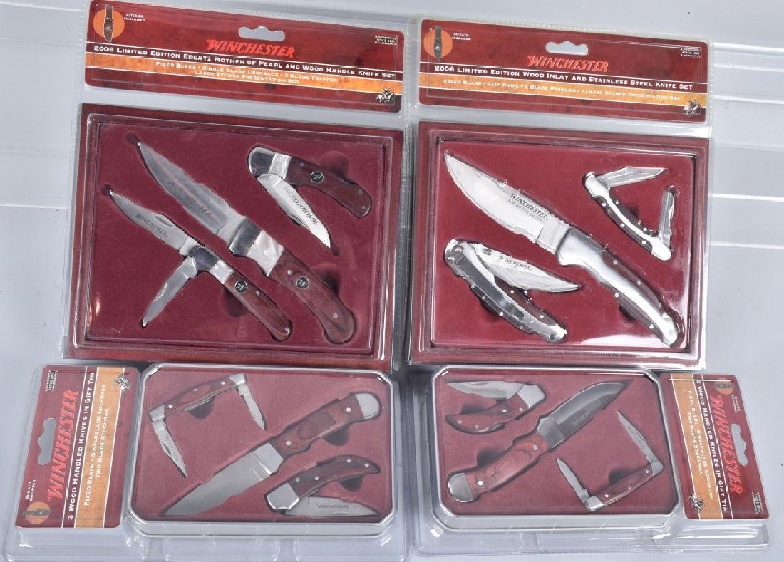 4- WINCHESTER COLLECTOR KNIFE SETS MIB