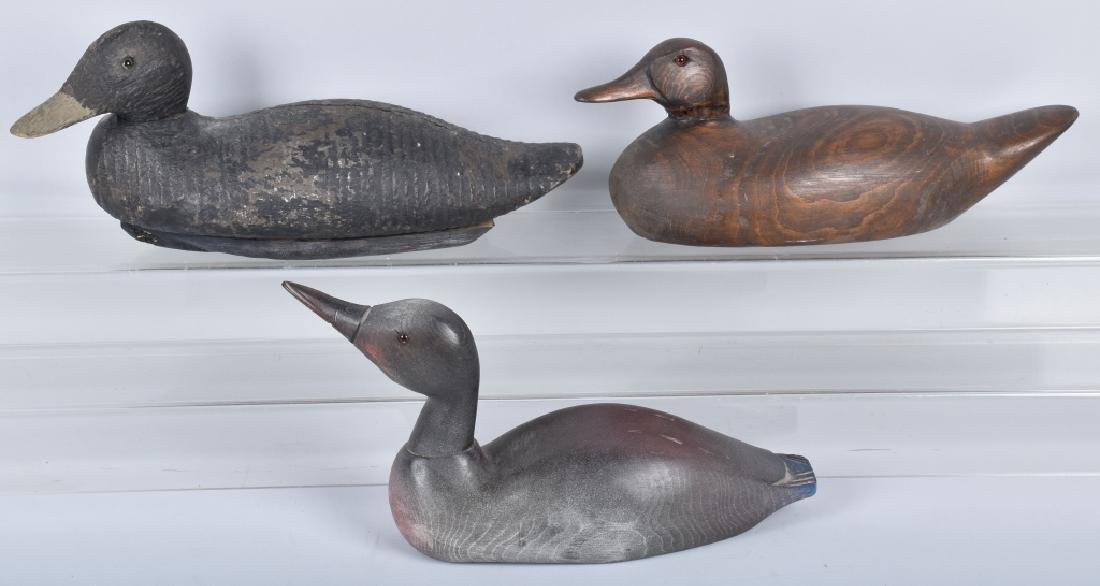 3- CARVED WOOD DUCK DECOYS