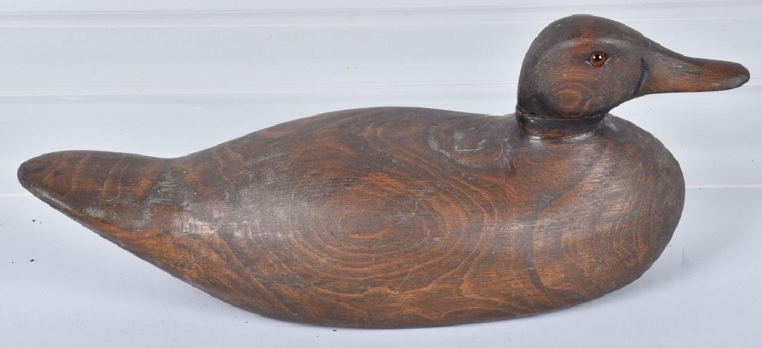 3- CARVED WOOD DUCK DECOYS - 6