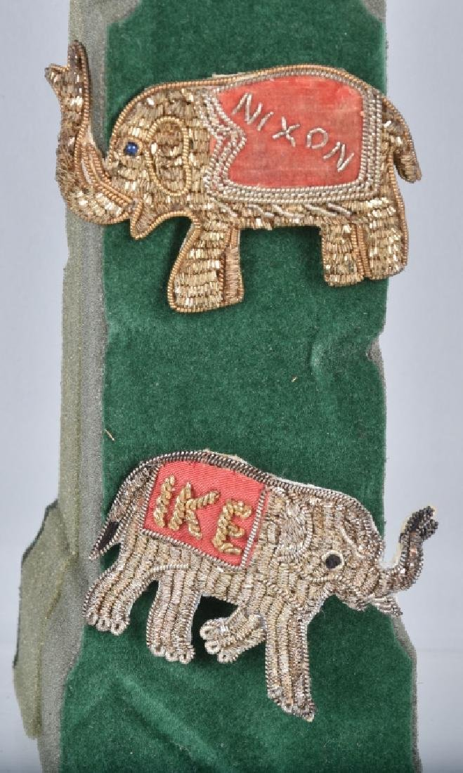 NIXION & IKE ELEPHANT BULLION PINS
