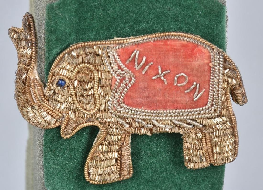 NIXION & IKE ELEPHANT BULLION PINS - 2