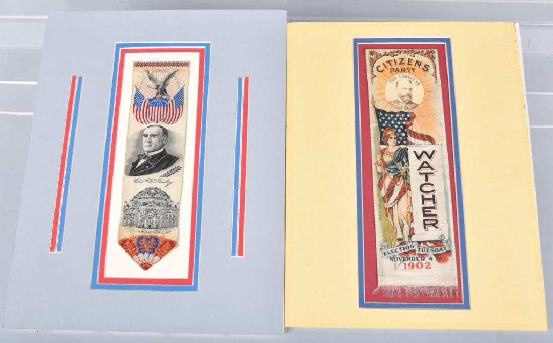 McKINLEY & PORTER POLITICAL RIBBONS