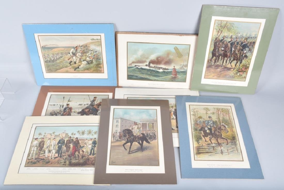 Lot of 8 MILITARY PRINTS