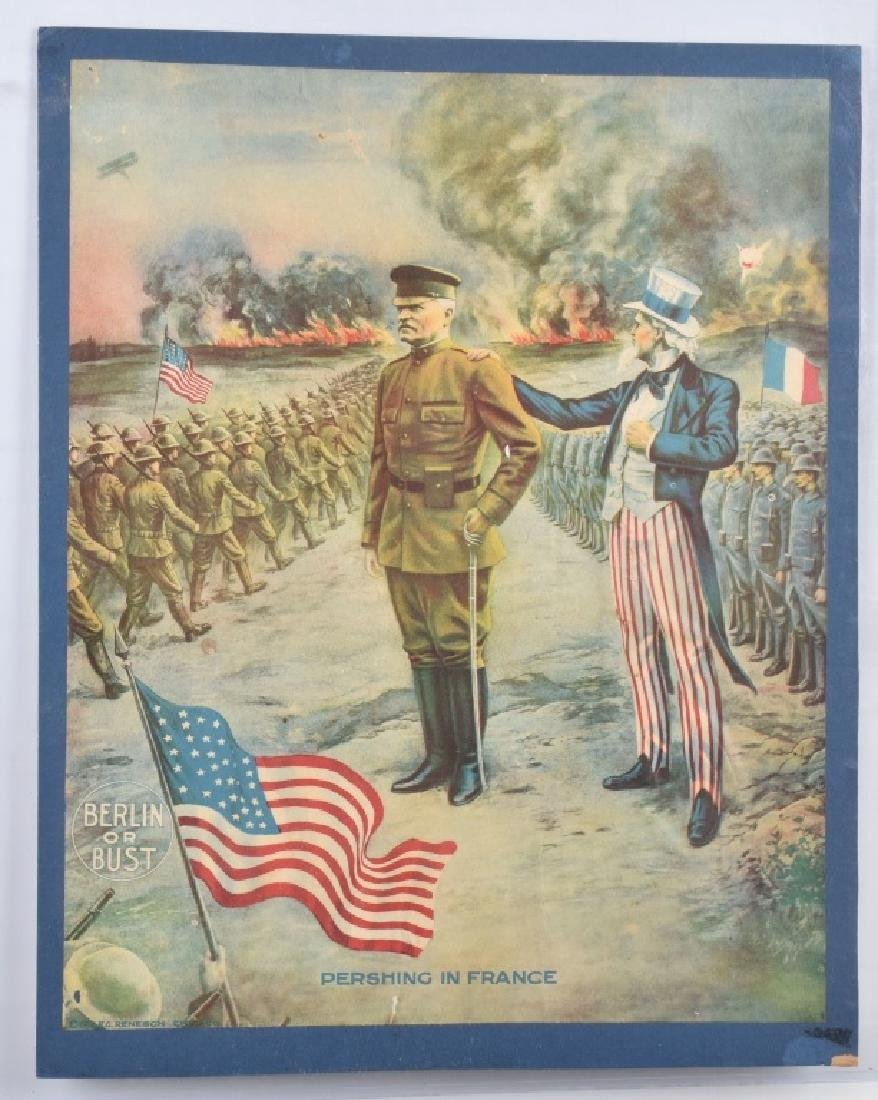 WW1 PERSHING & UNCLE SAM POSTER