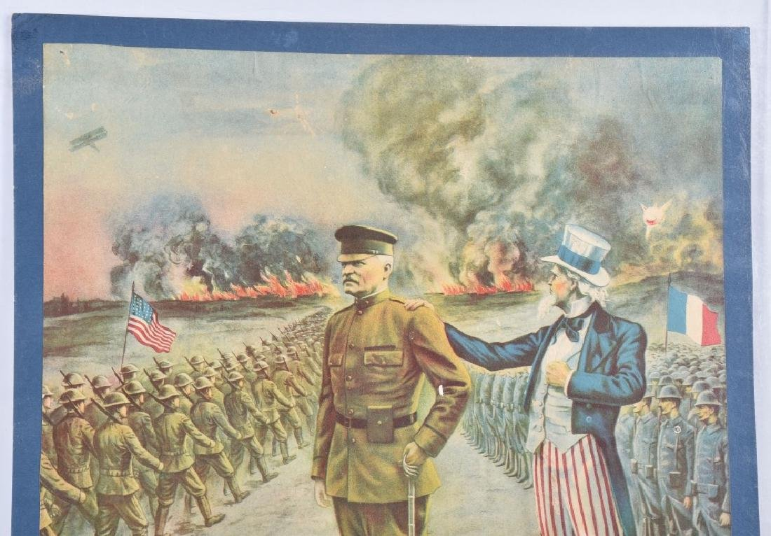 WW1 PERSHING & UNCLE SAM POSTER - 2