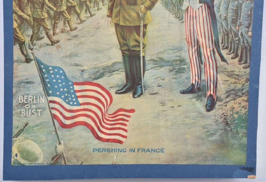 WW1 PERSHING & UNCLE SAM POSTER - 3