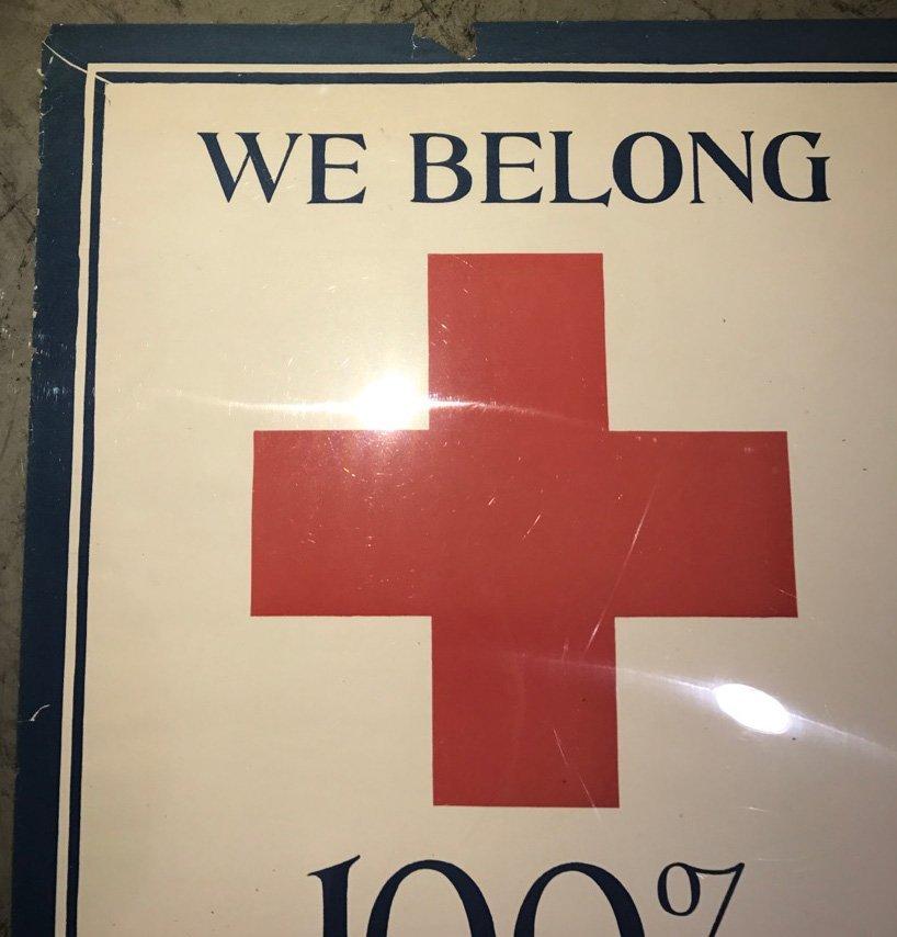 2- WW1 WE BELONG RED CROSS POSTERS - 3