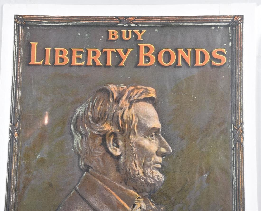 WWI BUY LIBERTY BONDS w/ ABRAHAM LINCOLN POSTER - 2