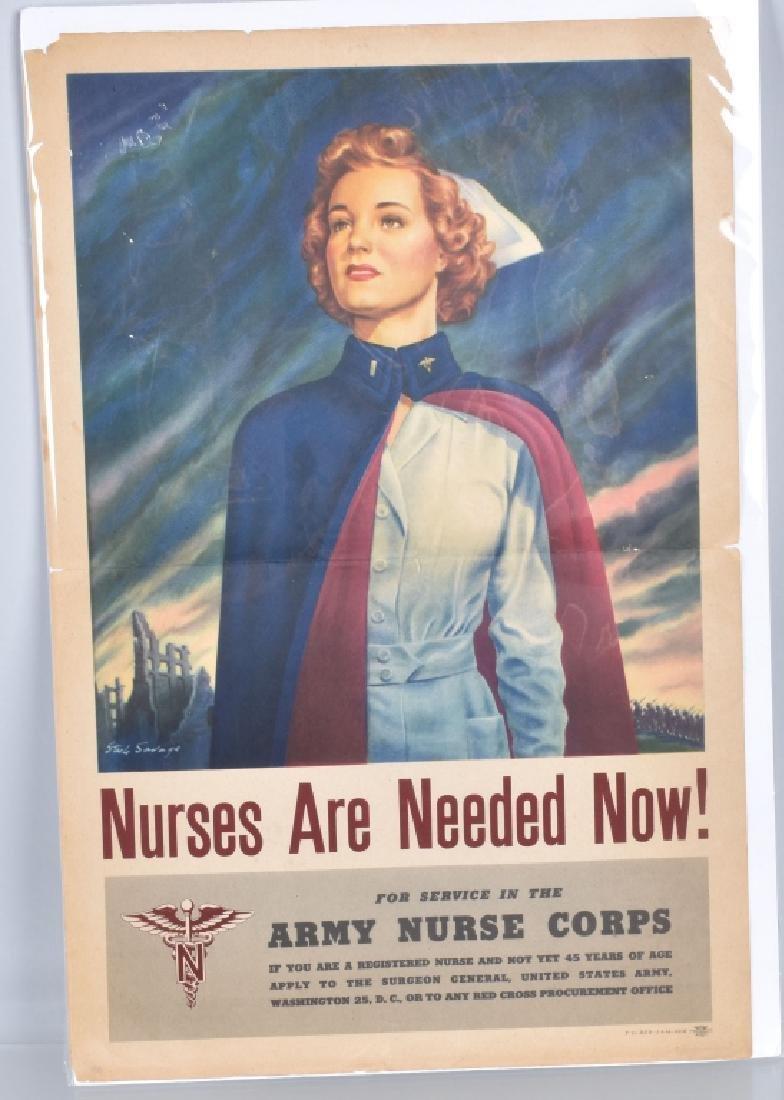 WW2 NURSES ARE NEEDED POSTER