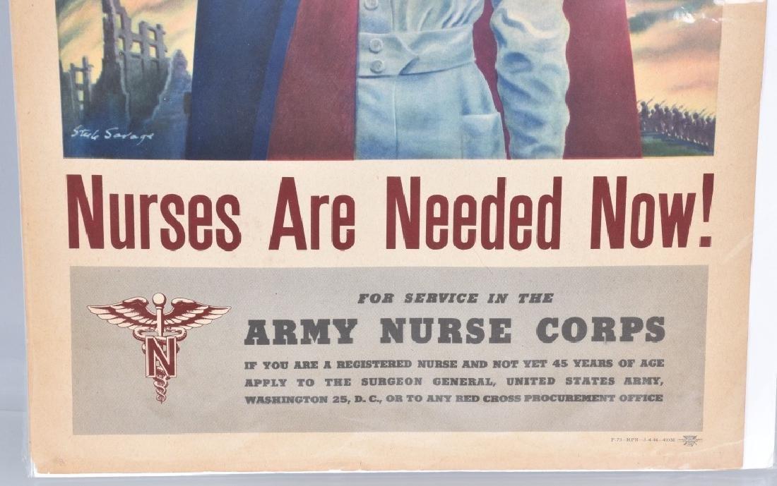 WW2 NURSES ARE NEEDED POSTER - 3