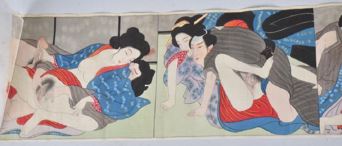 G.I. SOUVENIR JAPAN RISQUE SILK TAPESTRY - 2
