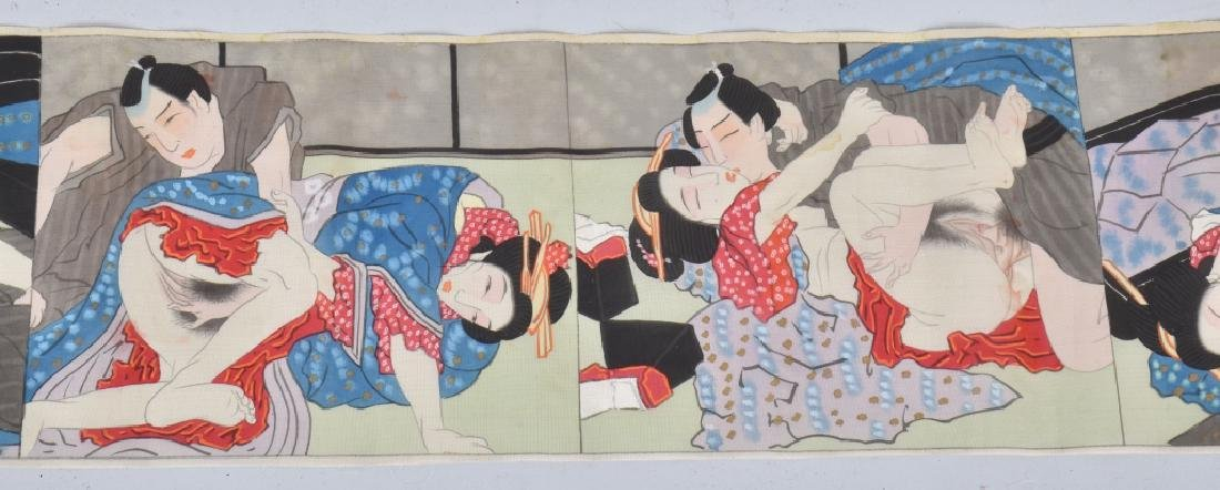 G.I. SOUVENIR JAPAN RISQUE SILK TAPESTRY - 3