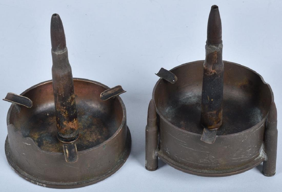 WW2 TRENCH ART ASH TRAYS JAPANESE PRISONEERS