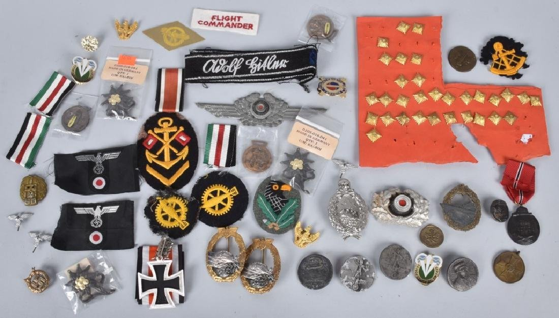 LARGE LOT of NAZI GERMAN PINS & PATCHES