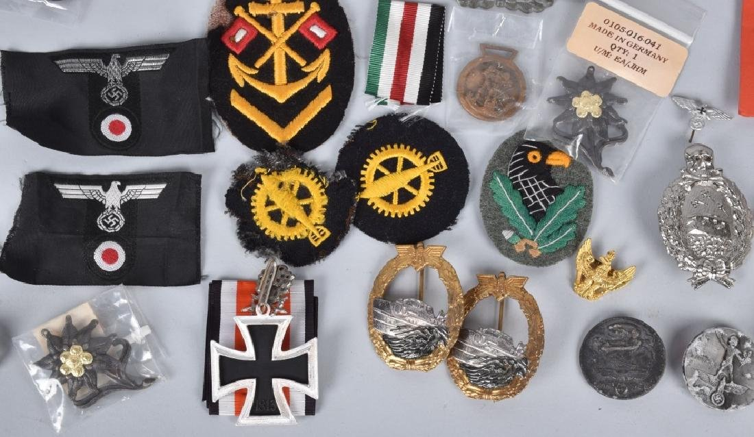 LARGE LOT of NAZI GERMAN PINS & PATCHES - 4