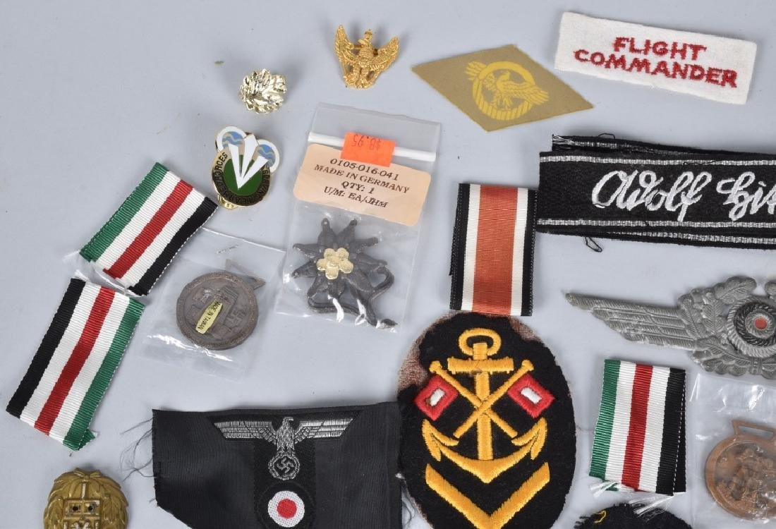 LARGE LOT of NAZI GERMAN PINS & PATCHES - 6