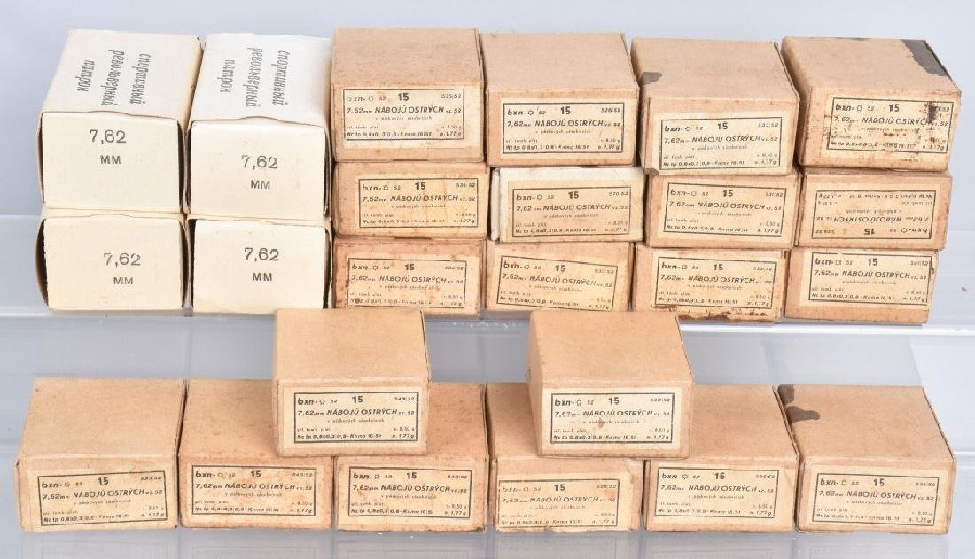 AMMUNITION LOT 500 ROUNDS 7.62MM x 52, & 7.62MM
