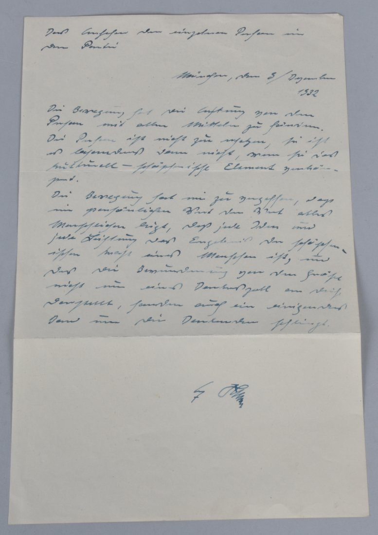 ADOLF HITLER SIGNED LETTER ABOUT A PARTY - 2