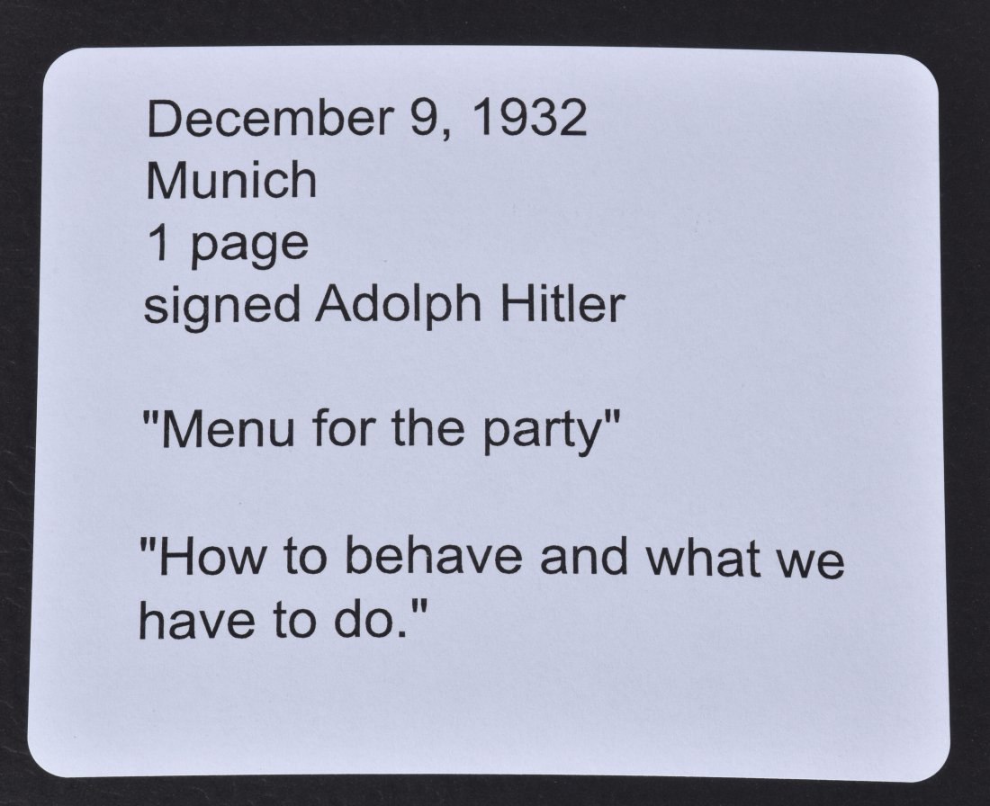 ADOLF HITLER SIGNED LETTER ABOUT A PARTY - 5