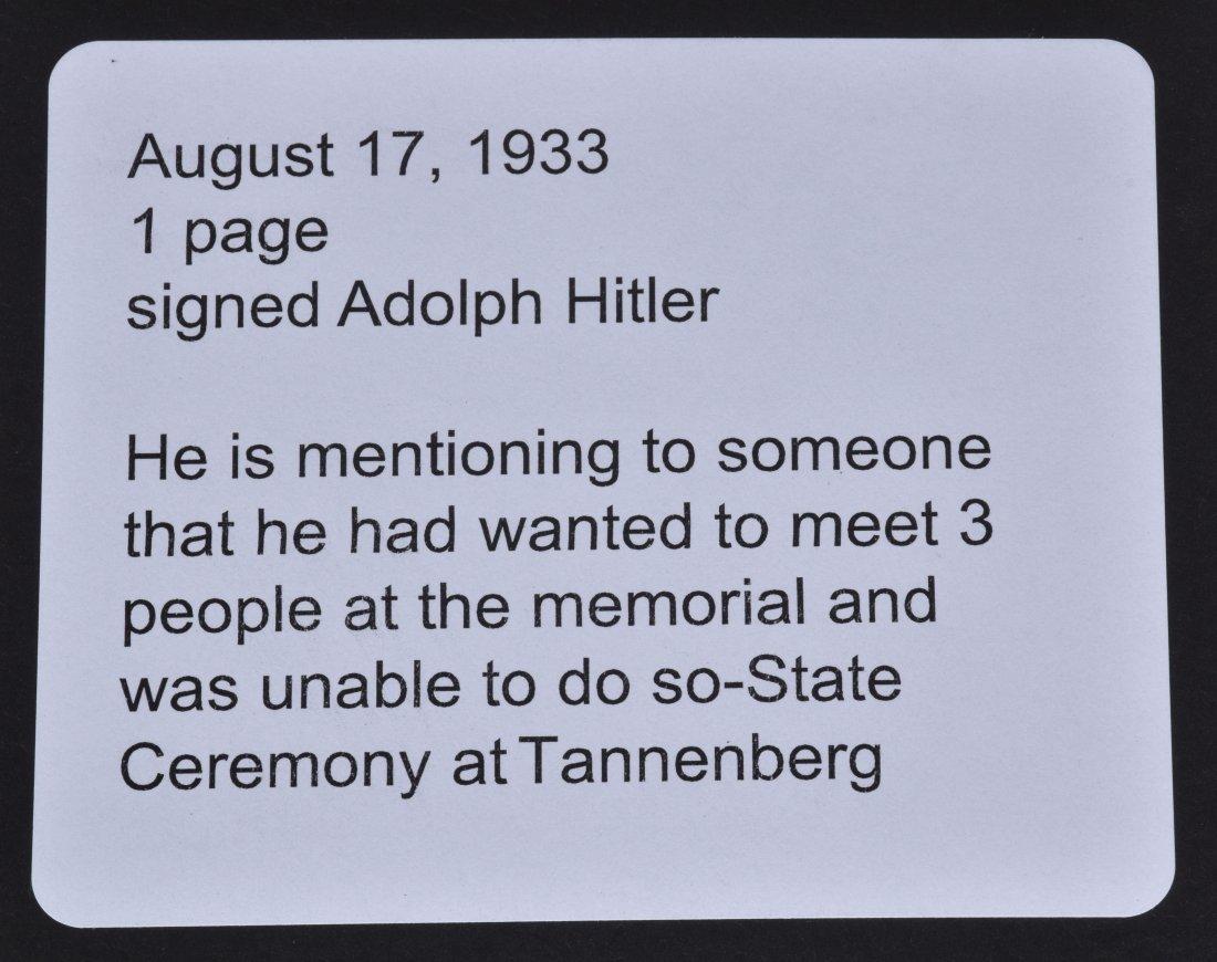 ADOLF HITLER SIGNED NOTE - 6