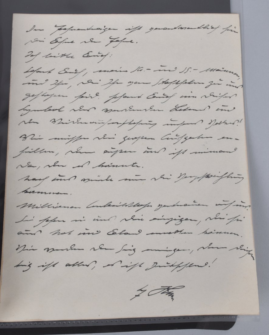 ADOLF HITLER SIGNED SKETCH FOR A SPEECH - 4