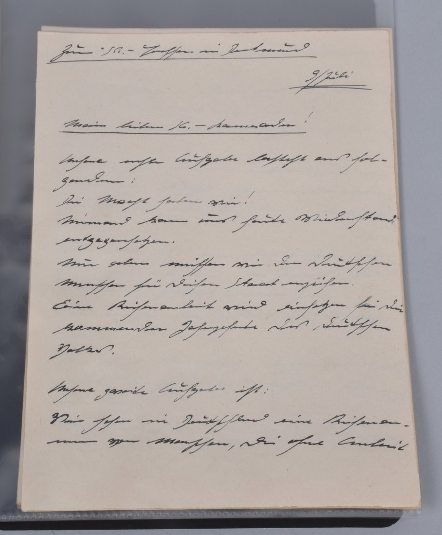 ADOLF HITLER SIGNED SKETCH FOR A SPEECH - 5