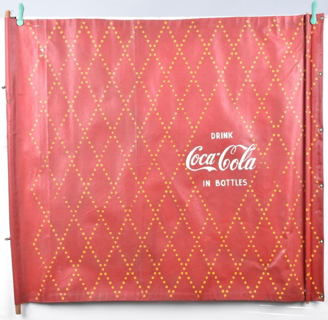 EARLY CANVAS COCA-COLA ADVERTISING BANNER