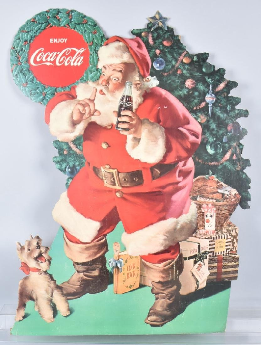 "48"" COCA COLA & DOG DIECUT STORE DISPLAY"