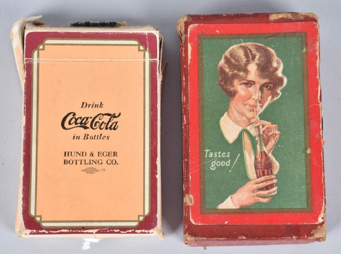 Lot of 2 EARLY COCA COLA PLAYING CARD DECKS