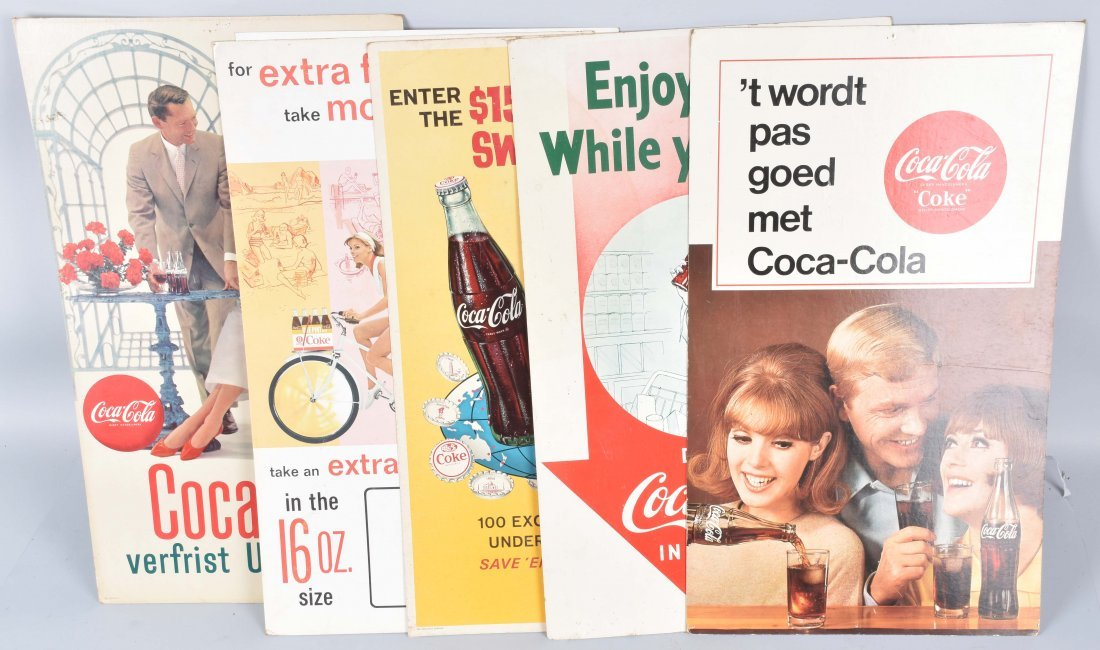 6 VINTAGE COCA COLA ADVERTISING SIGNS