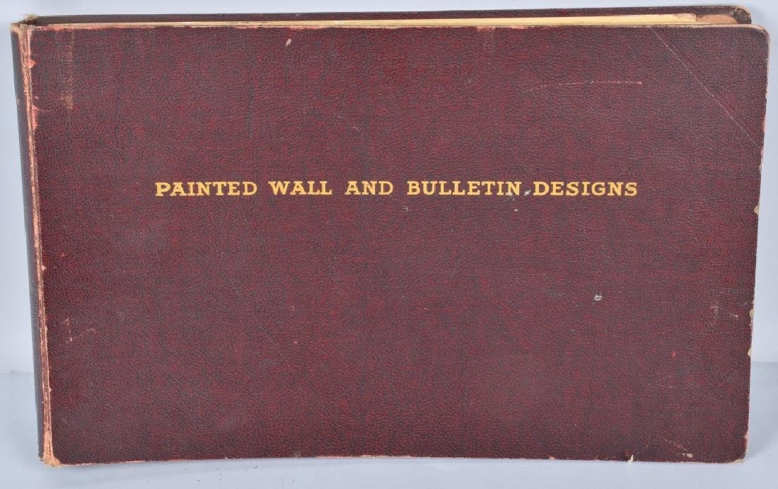 1920-30s COCA COLA PAINTED WALL & BULLETINS BOOK
