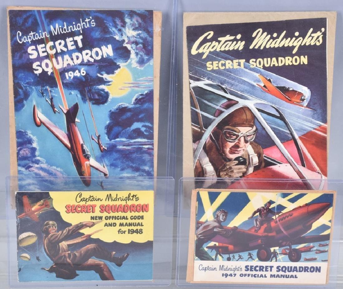 4- CAPTAIN MIDNIGHT SECRET SQUADRON BOOKS