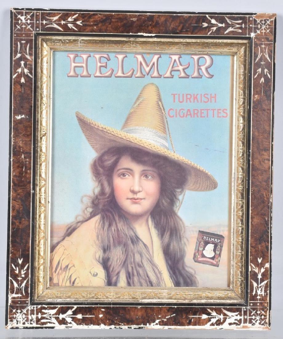 HELMAR TURKISH CIGARETTES FRAMED POSTER