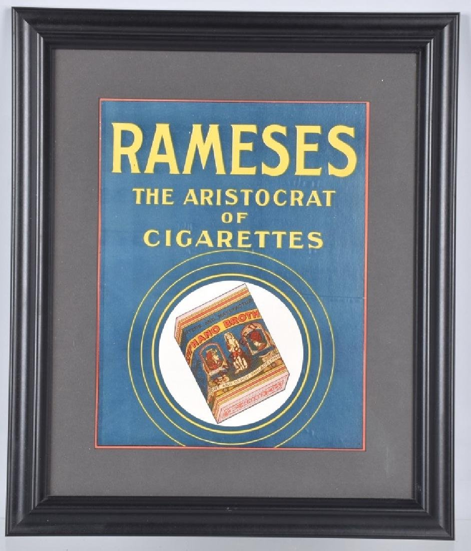 RAMESES ARISTOCRAT CIGATETTES SIGN
