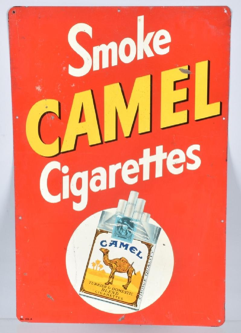 SMOKE CAMEL CIGARETTES TIN SIGN